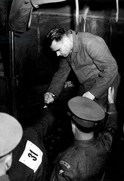 Commandant Of Bergen Belsen Goes to Trial (b/w photo)