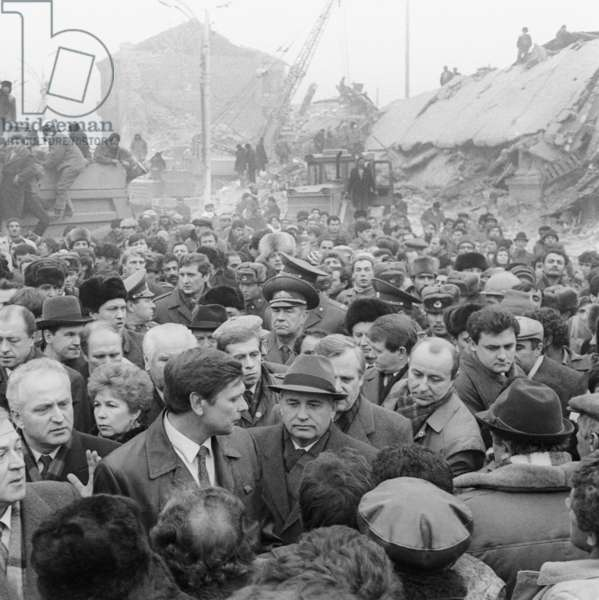 Mikhail Gorbachev Visit To Leninakan After Earthquake