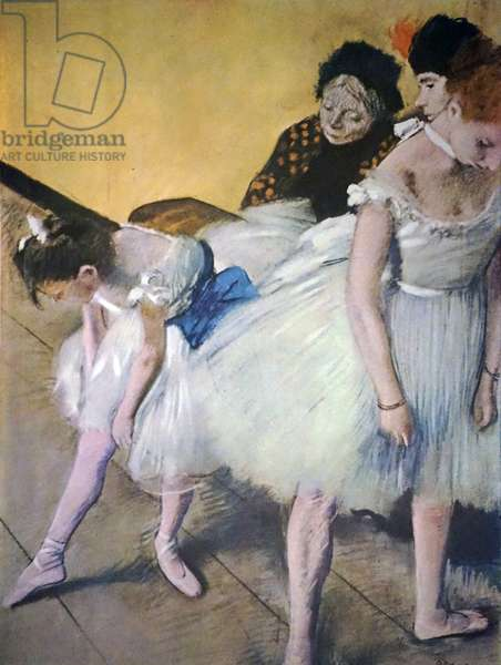 Painting titled 'The Dancing Class' by Edgar Degas