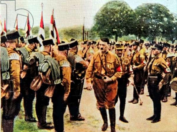 Hitler attends Nazi rally in Nuremberg 1929