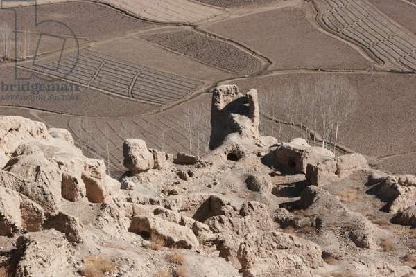 The Islamic City of Shar E Gholgola at Bamiyan: Ruins of the Citadel known As the City of Sighs, Bamian Province, Afghanistan (photo)