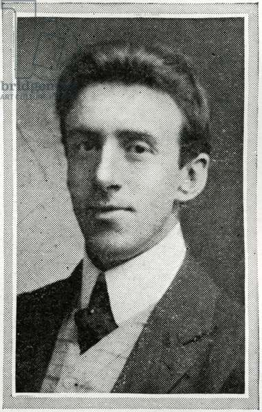 Photograph of W. Hartley, the leader of the Titanic's band of eight musicians and one of the many men that died at their post when the ship sank on April 15th, 1912.  The band played on until the water was over their feet. Titanic was built by Harland & Wolff in Belfast Ireland during 1910 - 1911 and sank after striking an iceberg off the coast of New Foundland during her maiden voyage from Southampton, England to New York, USA, with the loss of 1,522 passengers and crew. (Photo by Titanic Images/Universal Images Group) Photographie ©UIG/Leemage