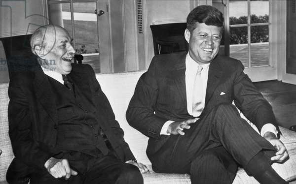 Kennedy And Lord Clement Atlee (b/w photo)