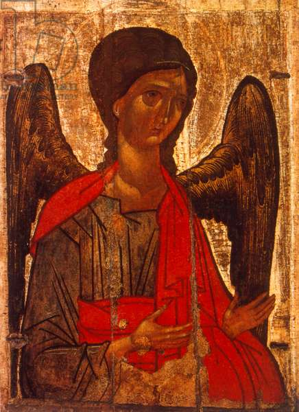 18th century Russian orthodox icon of the Archangel Michael. Tretyakov Gallery. Moscow. Russia