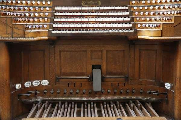 Notre Dame de paris cathedral, Organ, Paris, France, 2015 (photo)