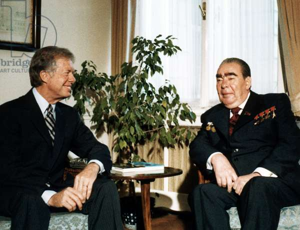 Leonid Brezhnev with US President Jimmy Carter