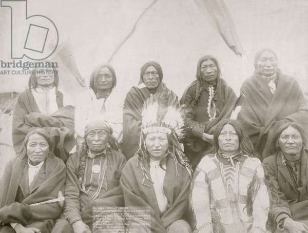 Indians Who Signed Peace Treaty with General Miles (b/w photo)