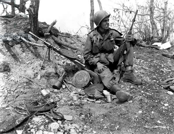 An American Soldier during the Korean War, 1952