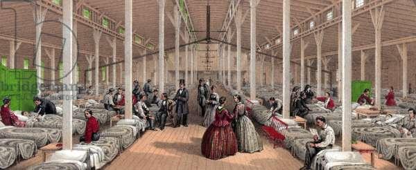 Hospital ward during the American Civil war, 1862