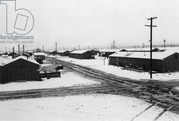 Winter storm, Manzanar Relocation Center, California, 1943 (photo)