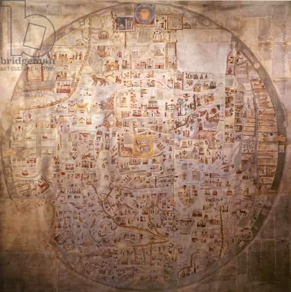 A detailed medieval map of the world as it was known