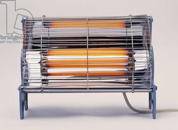 Electric bar heater, with bars glowing red-hot