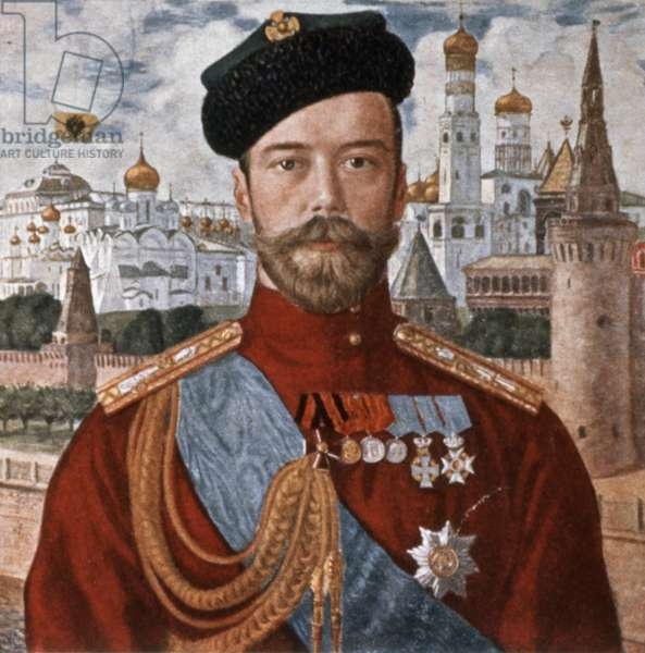 Portrait of Tsar Nicholas Ll of Russia by B, M, Koustodiev from the Early 1900s.