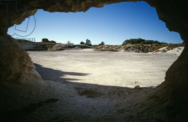 Stone quarry where Nelson Mandela was imprisoned, Robben Island (photo)