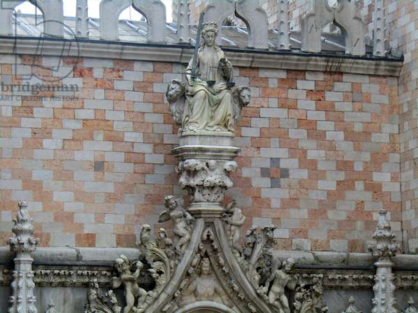 Detail from the facade of the Doge's Palace, 1754