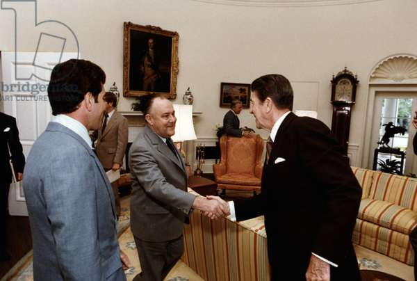 Robert Muldoon and US President Ronald Reagan