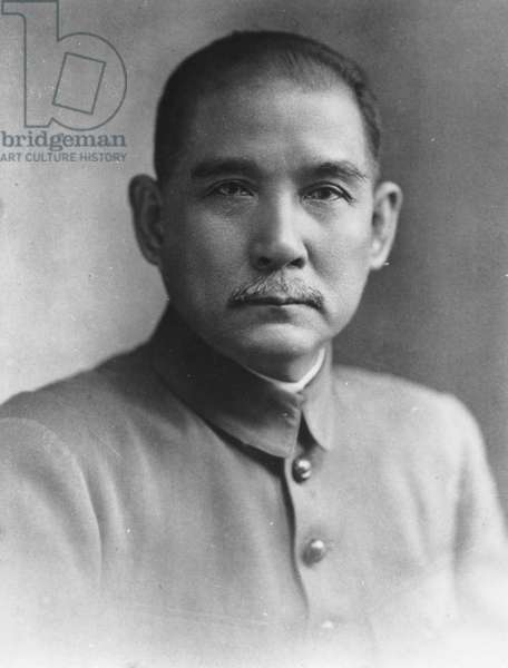 Dr, Sun Yat Sen, Chinese Revolutionary Leader (1866-1925).