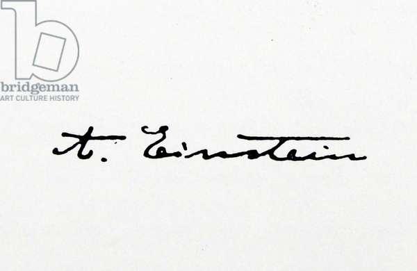 Signature of Albert Einstein