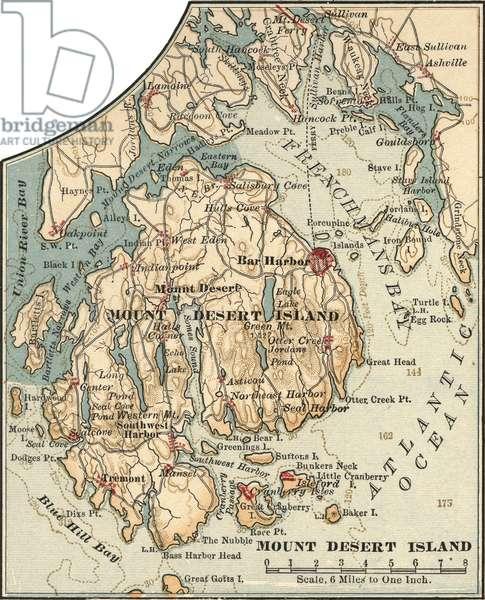 Map of Mount Desert Island, Maine