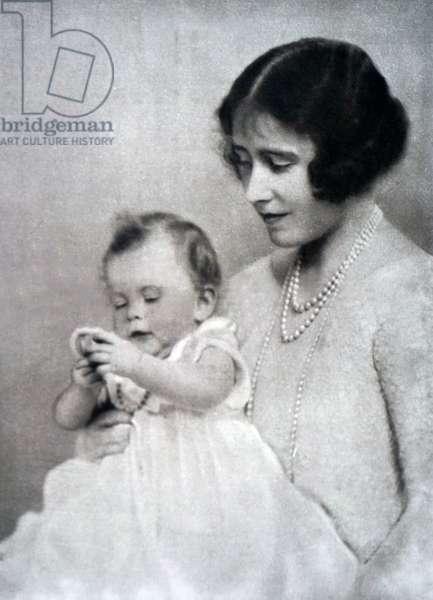 Queen Elizabeth The Queen Mother with Princess Elizabeth