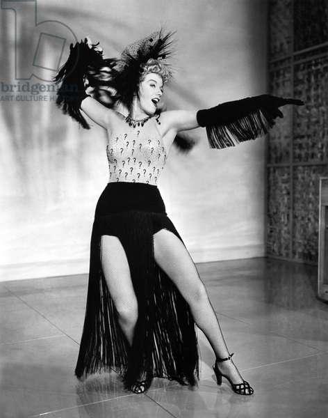 Shelley Winters Performing, Hollywood, California, 1949 (b/w photo)