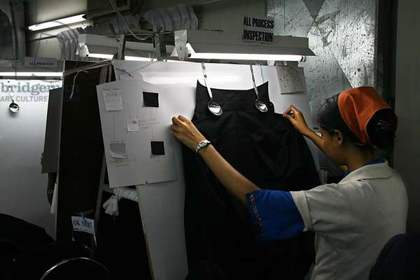 There are more than 175 factories employing about 80, 000 workers, 80% of whom are females in the Chittagong Export Processing Zone (CEPZ) in Chittagong, Bangladesh. The ready made garment industry has been the key export division and the chief source of foreign exchange for about 25 years. Not only does the country generate about 5 billion dollars worth of products each year but the industry itself provides employment to about 3 million workers throughout the country. Chittagong, Bangladesh. November 22, 2008.  .  (photo)