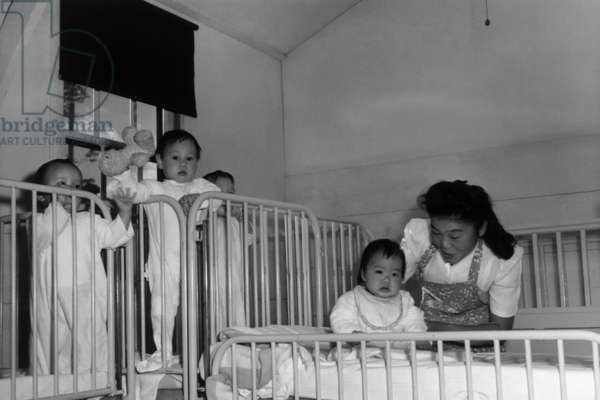 Orphanage nurse, Manzanar Relocation Center, California, 1943 (photo)