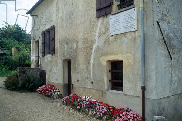 House of Louis Braille in Coupvray in France (photo)