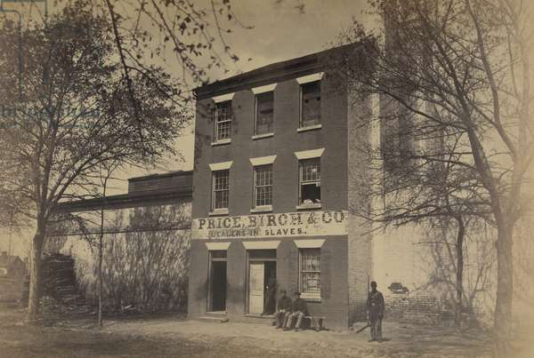 "Front of ""slave pen,"" Alexandria, Va. 1864 (photo)"