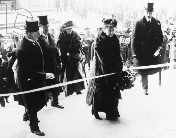 Queen Mary opens Waterloo Station, London, 21 March 1922