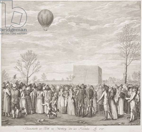 'Blanchard's 28th Flight to Nuremberg', Germany, 12 November 1787
