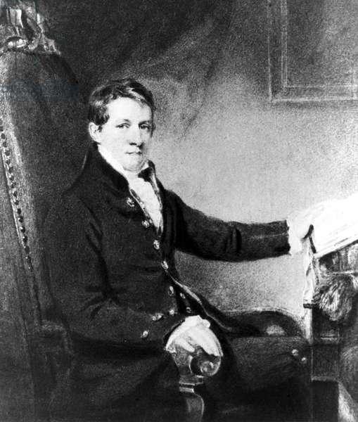 Sir Humphry Davy, English chemist, c 1800