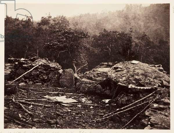Breastworks on Little Round Top Hill, Gettysburg, Pennsylvania, 3 July 1863