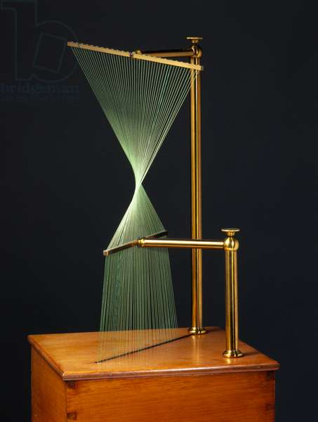 Mathematical Models, 19th Century Hyperbolic paraboloid, string surface model, 1872