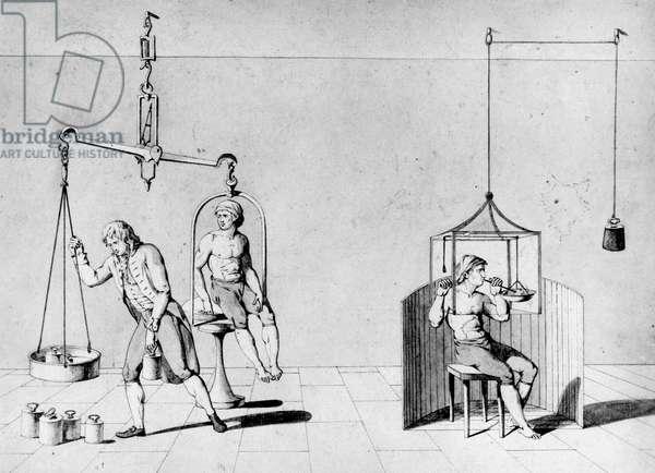 CHEMICAL LABORATORIES, EXPERIMENTS, 1700-1849 Antoine Lavoisier's experiments, c late 18th century
