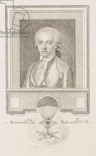 Jean-Pierre Francois Blanchard, French aeronaut, late 18th century