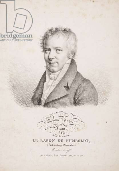 Alexander von Humboldt, German naturalist and explorer, 1821