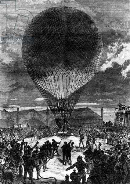 Night ballooning, Paris, 1870