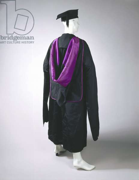 Academic gown, hood and mortar board, 1895