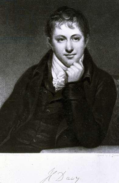 Sir Humphry Davy, English chemist, 1801
