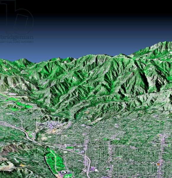 Pasadena, California, in 3-D, c 2000