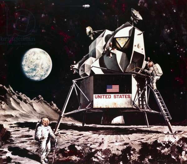 Manned Space Flight, USA, Apollo, General Artist impression of the Apollo Lunar Module, 1968