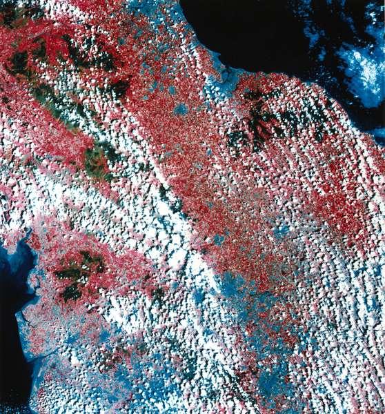Landsat image of northern England, 1982