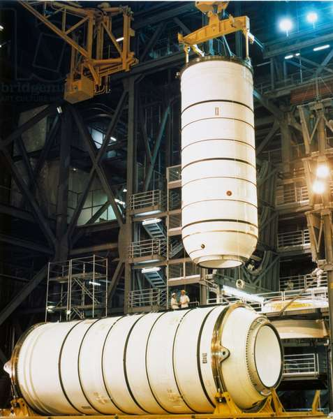 Launch Vehicles, USA Bottom portion of Space Shuttle solid fuel boosters, 1979