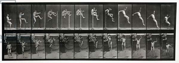 Time-lapse photographs of a man jumping, 1872-1885