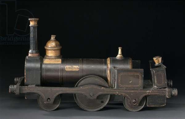 Model locomotive, 2-2-2 locomotive No 1 A Watkin, c 1866