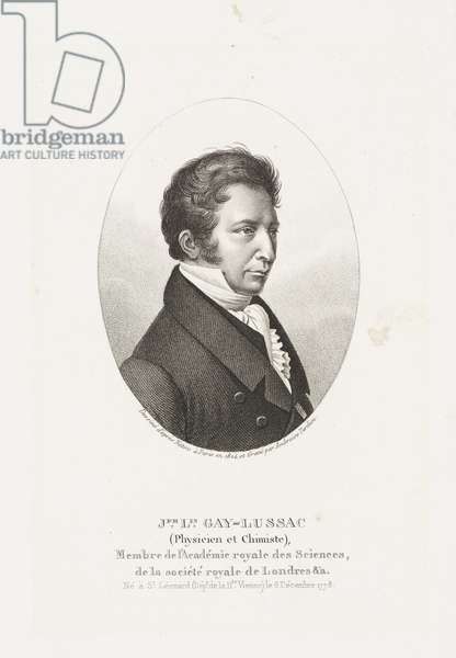 Joseph Louis Gay-Lussac, French chemist and physicist, 1824