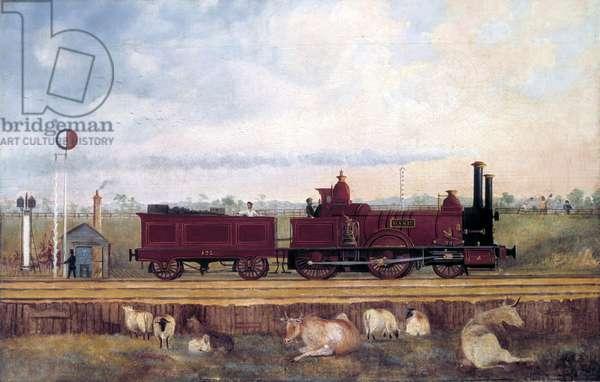 Dane' London & South Western Railway locomotive no 126, c 1850s