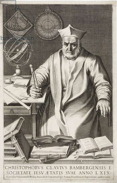 Christopher Clavius, German Jesuit priest and mathematician, 1606