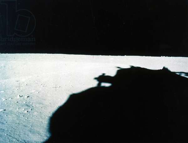Manned Space Flight, USA, Apollo 16 Panoramic view of lunar landscape, 1972